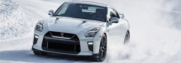 2020 Nissan GT-R white sports car
